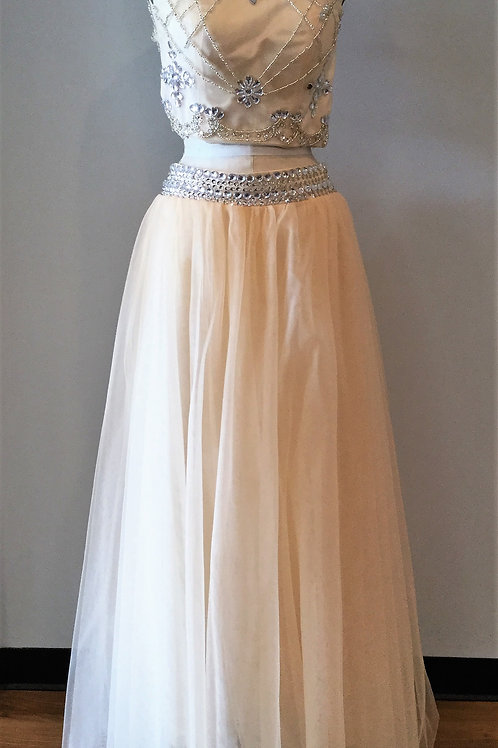 Tan/Nude Tulle Two Piece - Size 2
