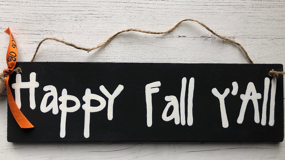 'Happy Fall Y'All' Hand Painted Sign