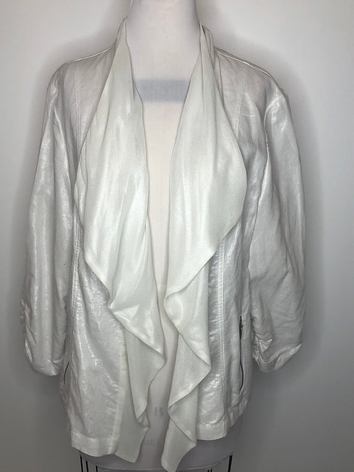 Chico's Pearl White Jacket Size 3