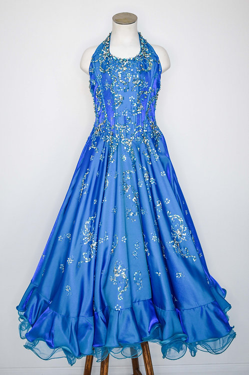 Royal Blue Little Girls Pageant - Size 6