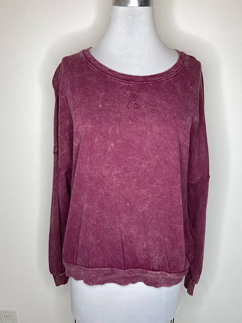 Free People burgundy Top - Size XS