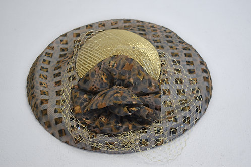 Leopard Derby Hat