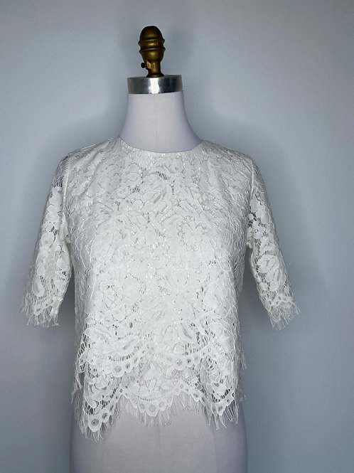 White Lace Top Size Medium
