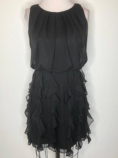 Black Ruffle Dress Size 4 Petite