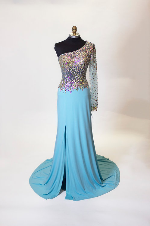 Teal AB Sequins - Size 4