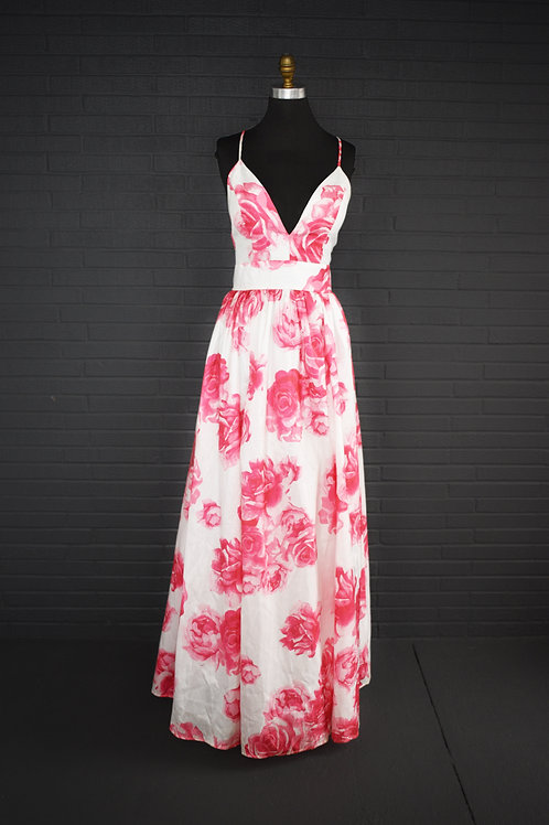 Pink & White Floral - Size 12