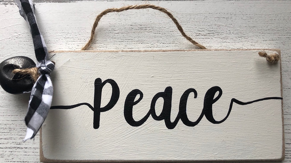 'Peace' Hand Painted Sign