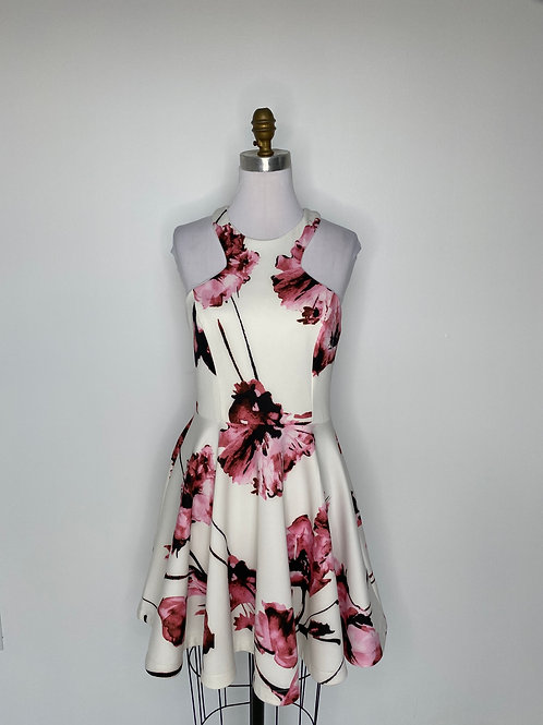 White Floral Dress Size 12