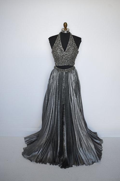 Sherri Hill Silver - Size 0