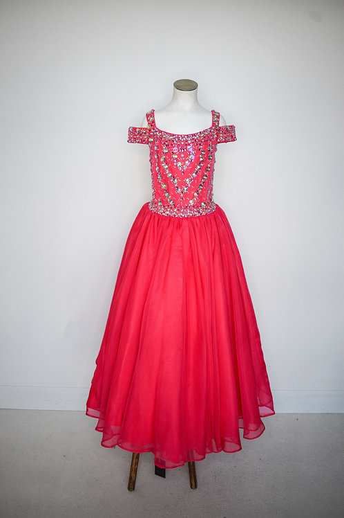 Hot Pink Girls Pageant - Size 12