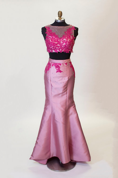 Pink Mermaid Two Piece - Size 2