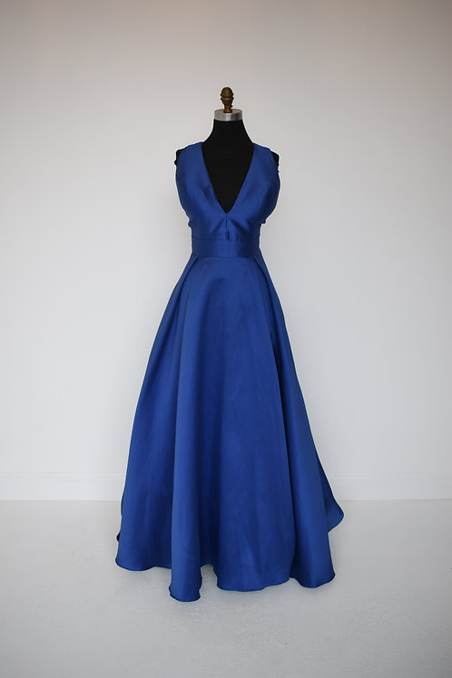 Jovani Blue Ballgown - Size 6