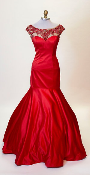 Sherri Hill Red Mermaid - Size 4