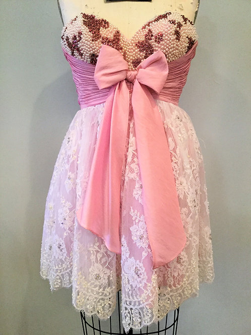 Sherri Hill Light Pink and Lace - Size 4