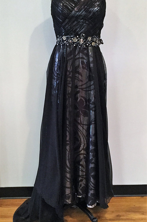 Tony Bowls Black and Silver Sequins - Size 8