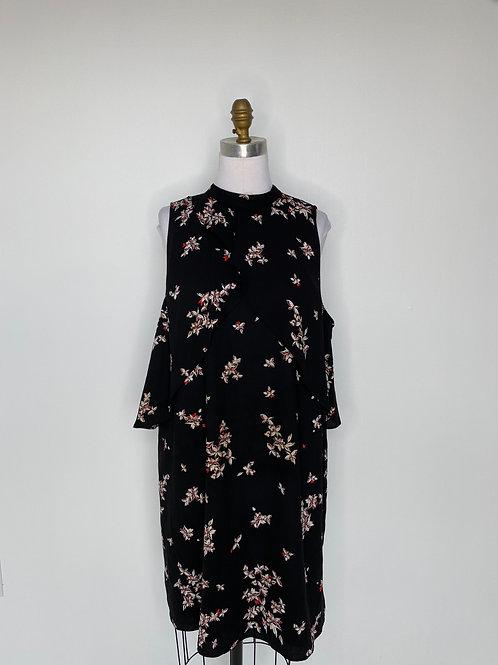 Black Print Dress Size 16
