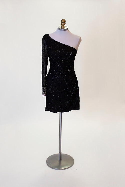 Sherri Hill Black Beaded - Size 2