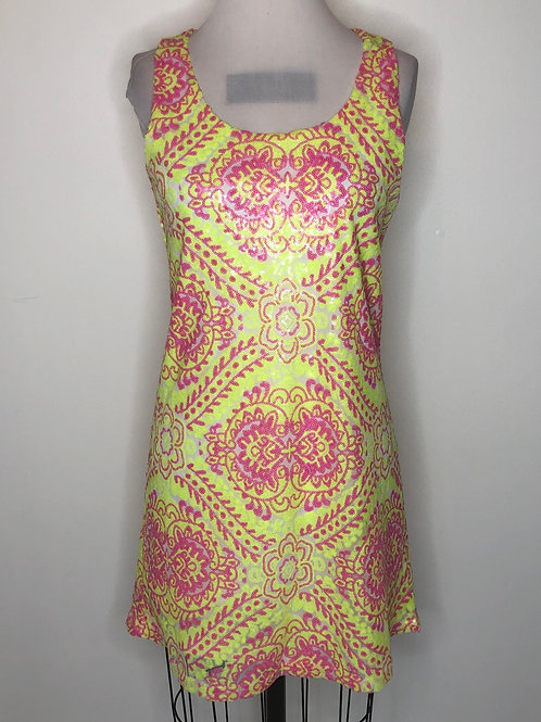 Neon Pink and Yellow Dress Size 4