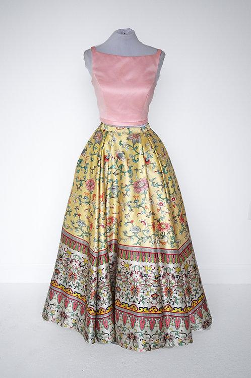 Sherri Hill Pink & Yellow Two Piece - Size 4