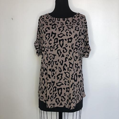 Leopard Print Tunic Top XL