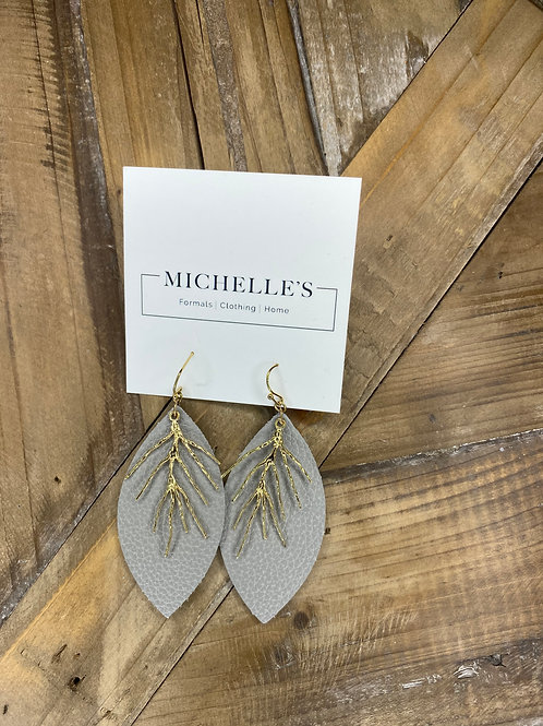 Gray Dangle Earrings