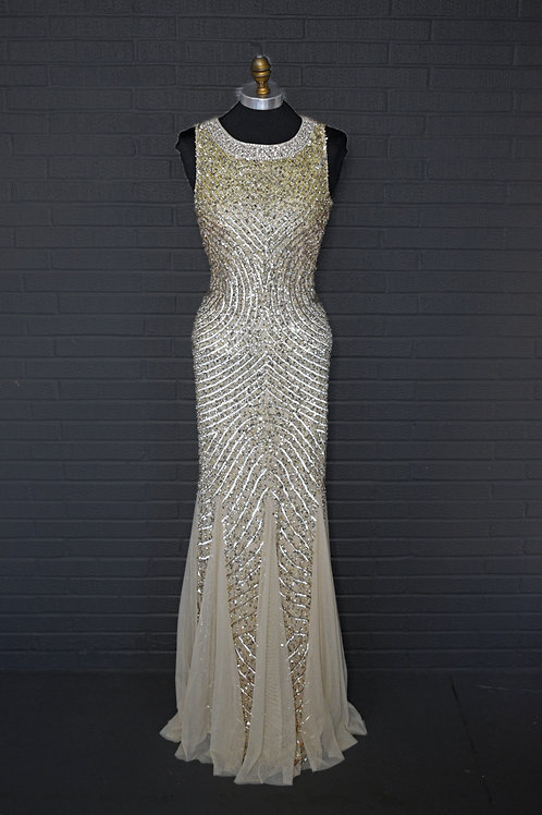 Gold Sequins Gown - Size 4