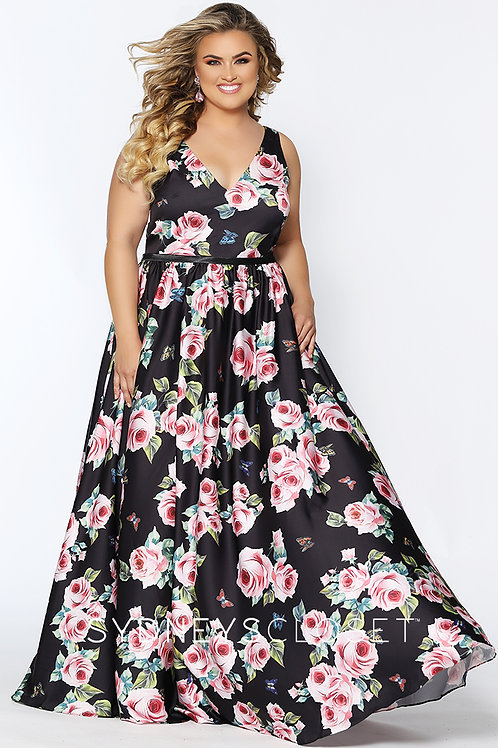 Tease Prom Satin Floral - Sizes 14-40