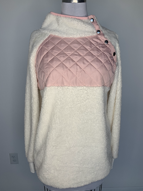 Pink & White Pullover - Small