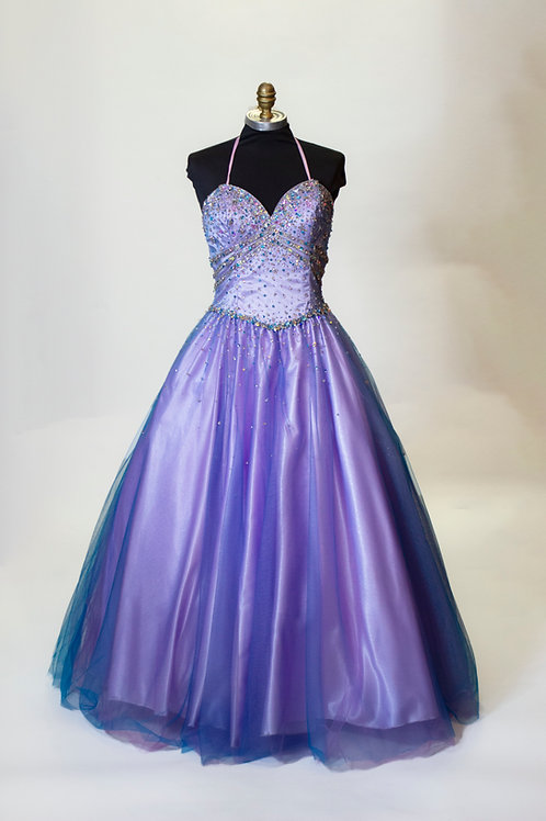 Lavender Tulle Blue Overlay - Size 6