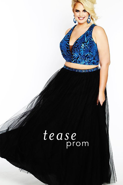 Tease Prom Sequin and Tulle Two Piece - Sizes 14-32