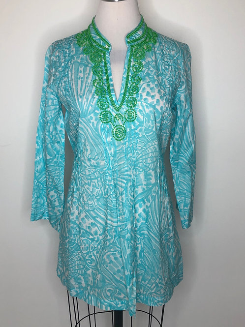 New! Lilly Pulitzer Turquoise Shirt Small Ret $148