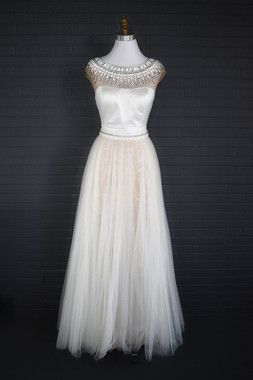 Sherri Hill Nude and Ivory - Size 8
