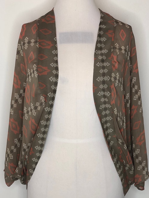 Brown and Orange Kimono Small