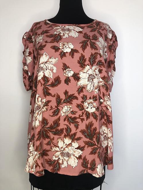 NEW! Ann Taylor Floral Peach Blouse XL