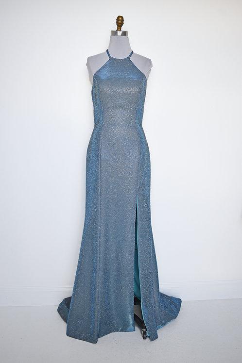Sherri Hill Teal Sparkle - Size 8