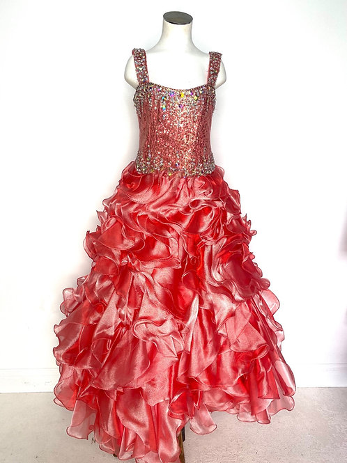 Tiffany Coral Girls Pageant - size 10