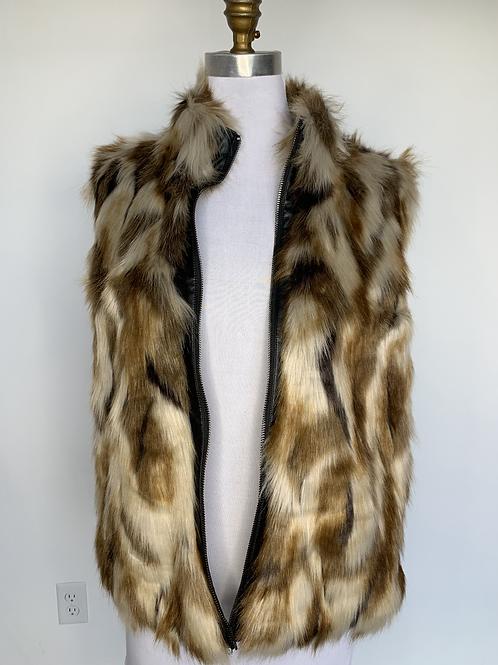Guess Faux Fur Vest - Large