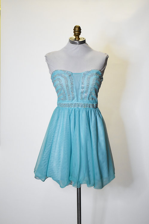 Teal Tulle - Size 2
