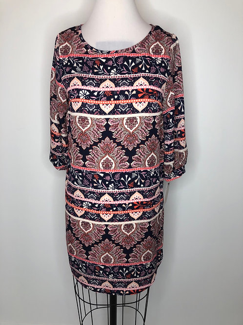New! Navy and Pink Dress Size 6