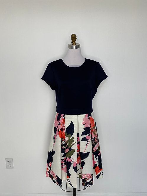 Navy Print Dress Size 12