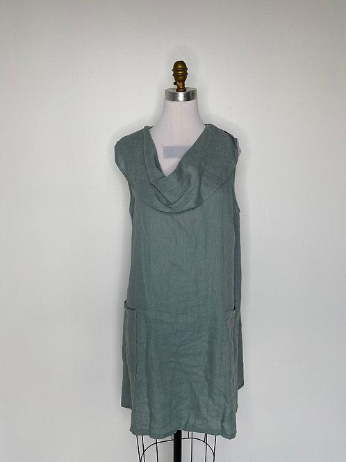 Green Linen Top Size 16