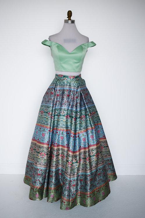 Sherri Hill Print Ballgown - Size 6