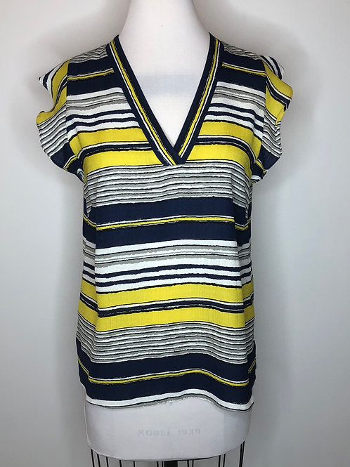 Jade Navy and Yellow Shirt Size Small
