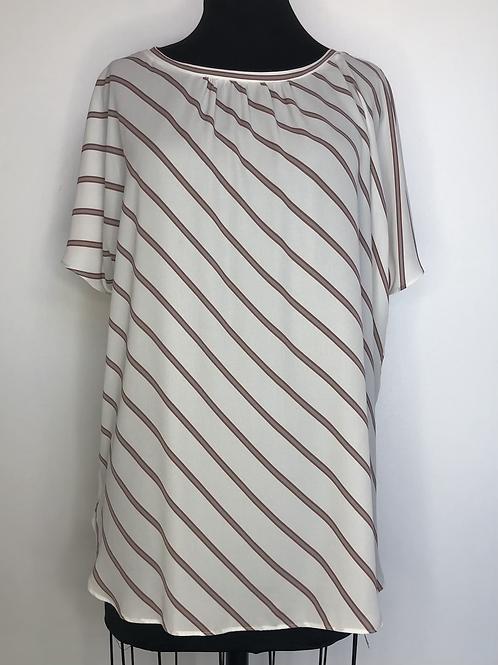 Ann Taylor Striped Blouse XL