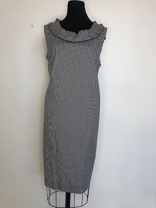 Talbots Black and White Gingham Dress Size 16W
