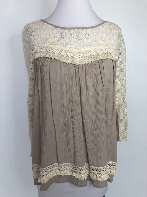 Taupe Shirt Small