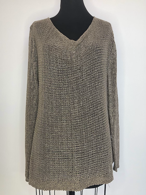 Soft Surroundings Brown Knit Sweater Large