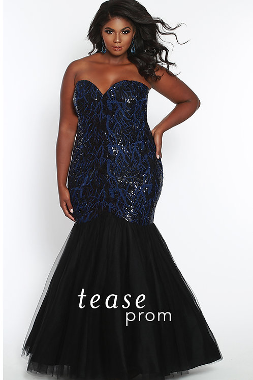 Tease Prom Mermaid Black - Sizes 14-32