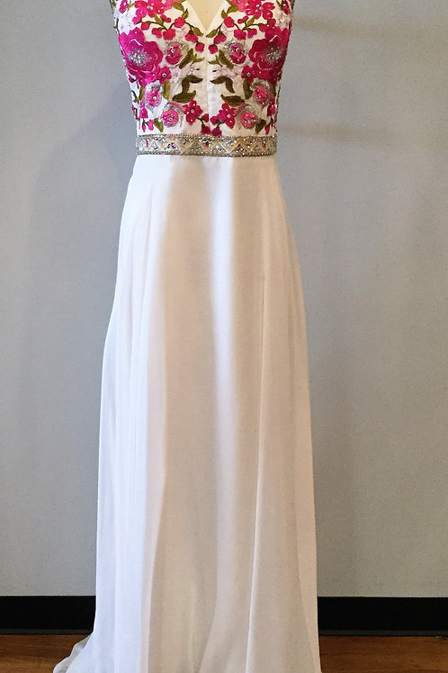 Blush White and Floral - Size 18W