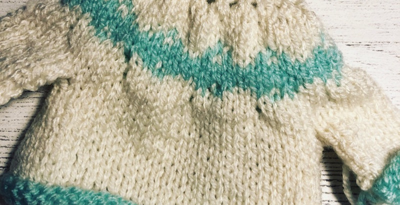 2nd Attempt at Fair Isle Pattern on Mini Sweater....
